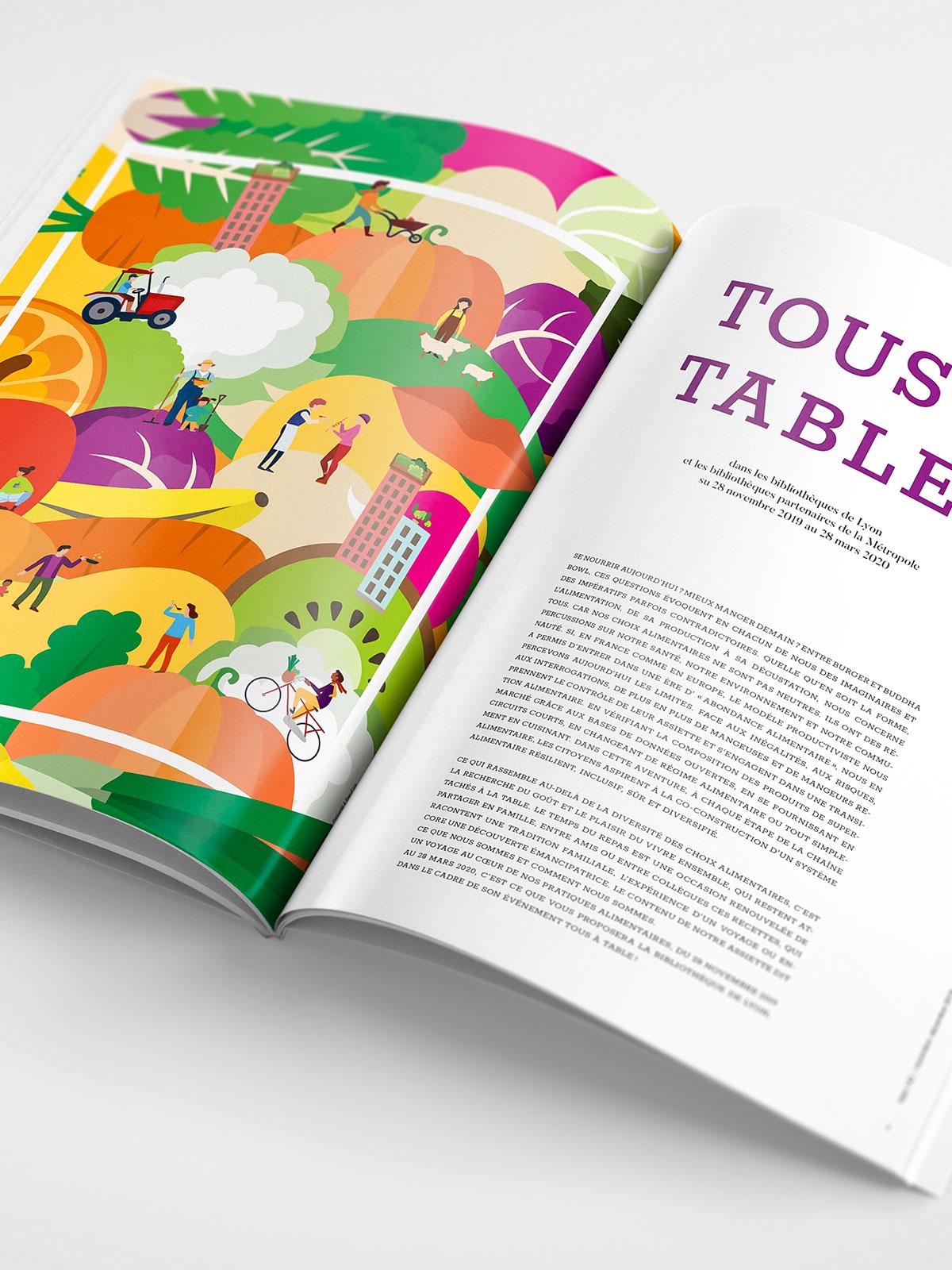 Graphisme Evenement Tous A Table Perluette Beaufixe